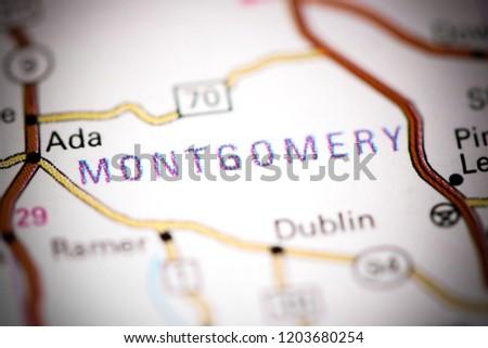 Montgomery Alabama USA On Map Stock Photo (Edit Now) 1203680254 ...