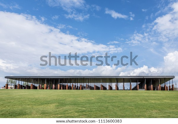 Montgomery, Alabama/USA - June 14, 2018: National Memorial for Peace and Justice