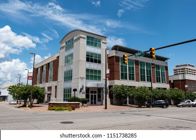 Montgomery, Alabama/USA-August 6, 2018: Rosa Parks Library and Museum celebrates the life and legacy of Rosa Parks.  This museum opened in 2000 and is on the campus of Troy University in Montgomery.
