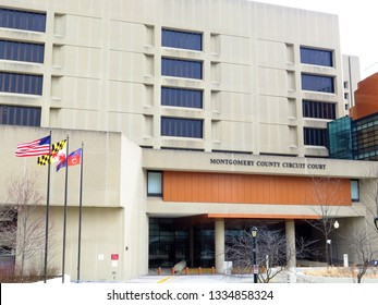 Montgomery County Circuit Court in downtown Rockville, Maryland, USA