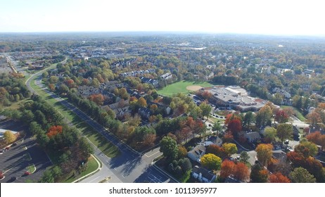 Montgomery County, Maryland - Aerial in Autumn