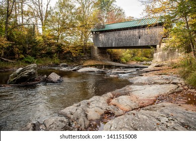 The Montgomery Covered Bridge, also known as the Lower Covered Bridge is a wooden covered bridge that carries Montgomery Road across the North Branch of the Lamoille River in Waterville, Vermont