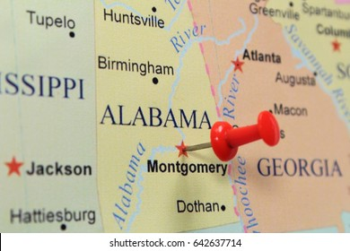 Montgomery pinned on map.