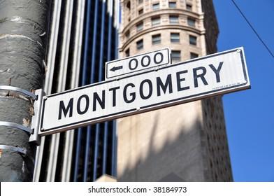 Montgomery Street Downtown Financial District San Francisco California