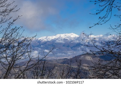 Monti Sabini (Rieti, Italy) - The snow-capped mountains in the province of Rieti, Sabina area, near Monte Terminillo and the Tiber river
