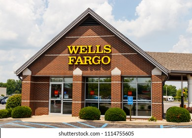 Monticello - Circa June 2018: Wells Fargo Signage and Logo. Wells Fargo is selling all its branches in three Midwestern states V