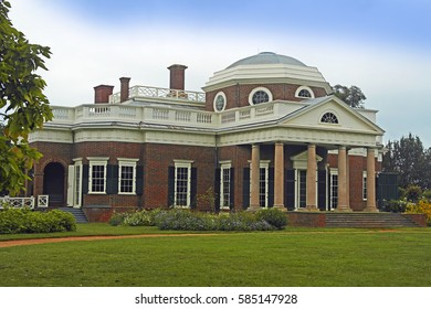 Monticello, Thomas's Jefferson's House. Virginia. 9th September 2014. For editorial use only