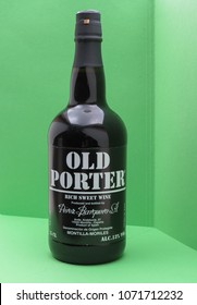 MONTILLA, SPAIN - CIRCA OCTOBER 2017: a bottle of Old Porter port wine