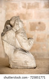 MONTMAJOUR, FRANCE - JUNE 26, 2017: Statue of angel in the cloisters of the Abbey of Montmajour near Arles, France
