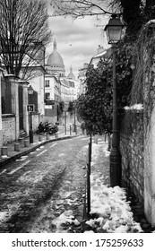 Montmartre Hill in Paris, France