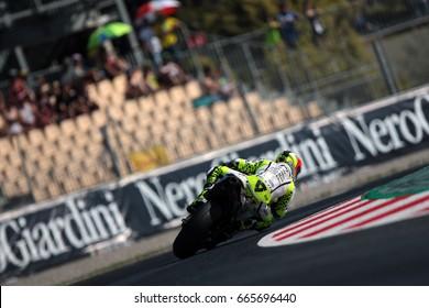 MONTMELO - SPAIN, JUNE 11: Spanish Ducati rider Alvaro Bautista at 2017 Monster Energy MotoGP of Catalunya at Montmelo circuit near Barcelona on June 11, 2017