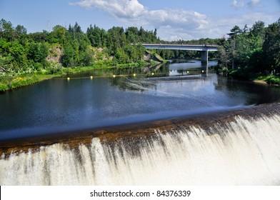 Montmorency Falls, near Quebec city (Canada)