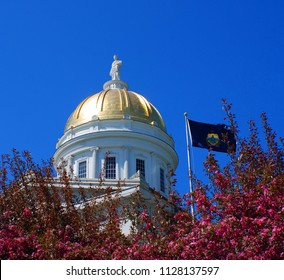 MONTPELIER VERMONT USA 04 28 2009: Vermont State House is the state capitol of the U.S. state of Vermont. It is the seat of the Vermont General Assembly.