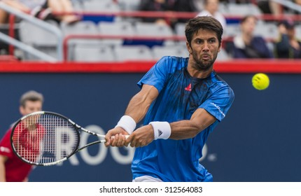 MONTREAL - AUGUST 11: Fernando Verdasco of Spain during his second round match loss to Nick Kyrgios of Australia at the 2015 Rogers Cup on August 11, 2015 in Montreal, Canada
