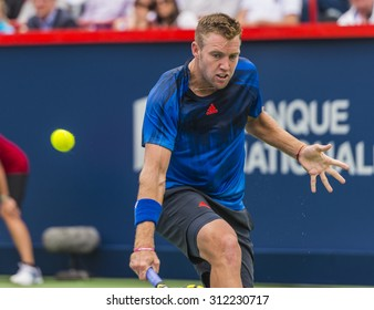 MONTREAL - AUGUST 13: Jack Sock of USA during his third round match loss to Novak Djokovic of Serbia at the 2015 Rogers Cup on August 13, 2015 in Montreal, Canada