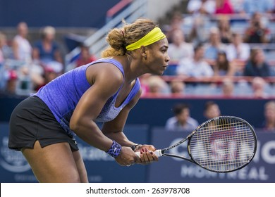 MONTREAL - AUGUST 6: Serena Williams of USA in her Second round match win over Samantha Stosur of Australia at the 2014 Rogers Cup on August 6, 2014 in Montreal, Canada