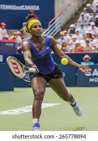MONTREAL - AUGUST 9: Serena Williams of USA in her semi final match loss to Venus Williams of USA at the 2014 Rogers Cup on August 9, 2014 in Montreal, Canada