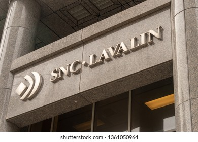 Montreal, CA - 5 April 2018 - SNC Lavalin Head Office on René-Lévesque Blvd