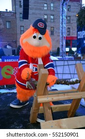 MONTREAL CANADA 01 06 17: Youppi! at the kick off of 375 anniversary of Montreal is the official mascot for the Montreal Canadiens, and former mascot of Montreal Expos. Youppi!