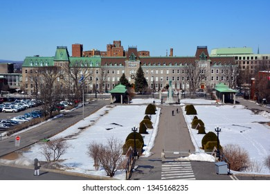 MONTREAL CANADA 02 07 2016: College Notre-Dame du Sacre-Cœur is a private French language co-education secondary school in Montreal, Quebec, Canada shares its name with the University of Notre Dame,
