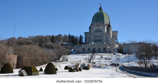 MONTREAL CANADA 02 07 2019: Saint Joseph Oratory of Mount Royal is a Roman Catholic minor basilica and national shrine. It is Canada largest church and the third-largest church building in the world.