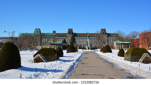 MONTREAL CANADA 02 07 2019: College Notre-Dame du Sacre-Cœur is a private French language co-education secondary school in Montreal, Quebec, Canada shares its name with the University of Notre Dame,