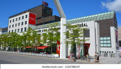 MONTREAL CANADA 05 16 2017: Musee d'art contemporain de Montreal. The MACM was the first institution in Canada devoted exclusively to contemporary art