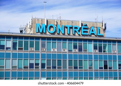 MONTREAL, CANADA -10 APRIL 2016- The Montreal Pierre Elliott Trudeau International Airport (YUL), formerly known as Dorval. It is the busiest airport in Quebec.