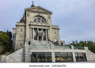 MONTREAL, CANADA - AUGUST 13, 2017: Saint Joseph's Oratory of Mount Royal (Oratoire Saint-Joseph du Mont-Royal, 1904 - 1967) - Roman Catholic basilica on west slope of Mount Royal in Montreal.