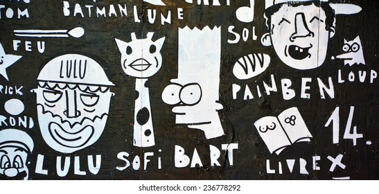 MONTREAL CANADA AUGUST 21  Street art Montreal Bart Simpson on august 21  2014 in Montreal 23fd70f956c1
