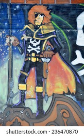 MONTREAL CANADA DEC 02: Street art Montreal Grendize on dec 02 2014 in Montreal Canada. Montreal. is the perfect place to walk in the back alleys and abandoned areas, looking for street art.