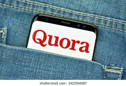 MONTREAL, CANADA - December 23, 2018: Quora android app and logo on Samsung s8 screen. Quora is an American question and answer website where questions are asked and answered.