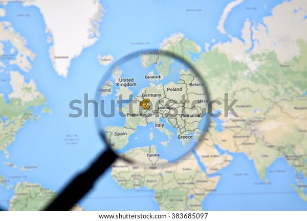 Montreal Canada February 2016 Europe Map Stock Photo Edit Now
