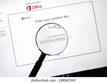 MONTREAL, CANADA - JANUARY 10, 2019: MIcrosoft Office 2019 activation screen. Microsoft Office 2019 is the new version of Microsoft Office, a productivity suite, succeeding Office 2016