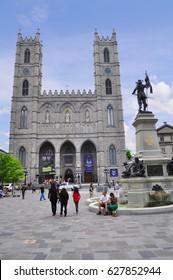 Montreal, Canada - July 2012 : Notre-Dame Basilica,  Roman Catholic Church