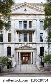Montreal, Canada - June, 2018: Institute of applied arts (Institut des arts appliques) building in Montreal, Quebec, Canada. Exterior view. Editorial use.