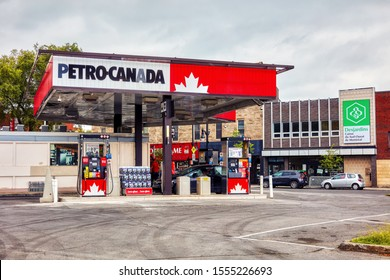 Montreal, Canada - June, 2018: Petro Canada gas station in Montreal, Quebec, Canada. Editorial.
