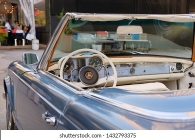 MONTREAL, CANADA - JUNE 8 2019: Mercedes Benz 230 SL is parked at downtown on a Formula 1 week.