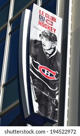 MONTREAL CANADA MAY 19: Montreal Canadians Rene Bourque poster before 2th match again New York Rangers on may 19 2014, Montreal. Canadiens have won the Stanley Cup more times than any other franchise