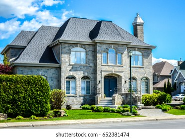 Montreal, Canada - May 27, 2017: Expensive homes in Montreal, Canada.