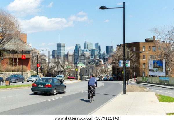 Montreal, Canada - May 5, 2018: Skyscrapers in Montreal downtown, Canada