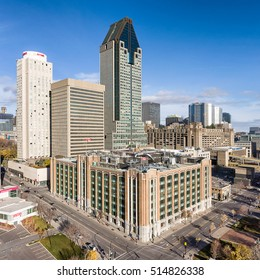 MONTREAL CANADA NOVEMBER 12: 1000 de la Gauchetiere in Montreal on november 12,2016.Named for its address,it rises to the maximum height approved by the city (the elevation of Mount Royal) at 205 m