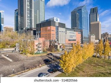 MONTREAL- CANADA- NOVEMBER 12: Bell Center, Montreal Canadiens home on November 12,2016. It opened on March 16, 1996 and has a seating capacity of 21288 making it the largest hockey arena in the world