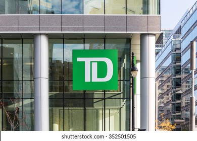 MONTREAL, CANADA, NOVEMBER 5, 2015: A branch of TD Canada Trust. It has 85,000 employees and 24 million customers worldwide.