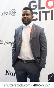 MONTREAL, CANADA - SEP 17 2016 - Kweku Mandela walks the blue carpet at the Global Citizen Concert at the Bell Center, a concert to end AIDS, Tuberculosis and Malaria.
