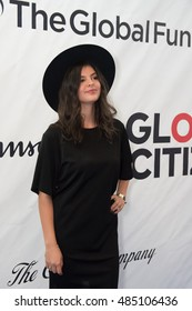 MONTREAL, CANADA - SEP 17 2016 - Nikki Yanofsky walks the blue carpet at the Global Citizen Concert at the Bell Center, a concert to end AIDS, Tuberculosis and Malaria.