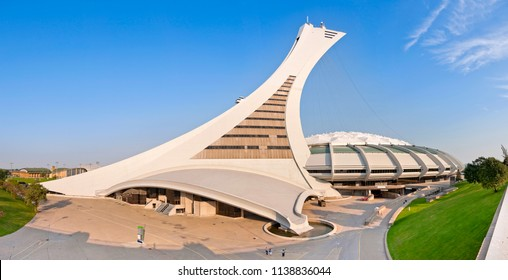 "MONTREAL, CANADA - SEPTEMBER 2, 2011: The beautiful Olympic Stadium of Montreal, nicknamed ""The Big O"" (French: Stade olympique)"