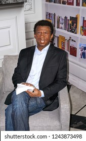 MONTREAL, CANADA - SEPTEMBER 23, 2018: Dany Laferriere Haitian-Canadian novelist and journalistWax museum Grevin in Montreal, Quebec, Canada