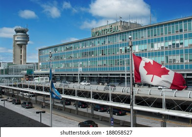 MONTREAL CITY - APRIL 16: Montreal International Airport building.  Airport is named in honor of Pierre Elliott Trudeau, the 15th Prime Minister of Canada. April 16, 2014 in Montreal, Quebec, Canada.