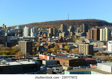 Montreal city skyline with Mont Royal at the background, Montreal, Quebec, Canada